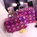 Caixa de Maquiagem Profissional Saco de viagem Portátil Multifuncional Mulheres Bolsa De Maquiagem Caso Cosméticos Compõem Caso Saco Caixa de Viagem de Higiene Pessoal