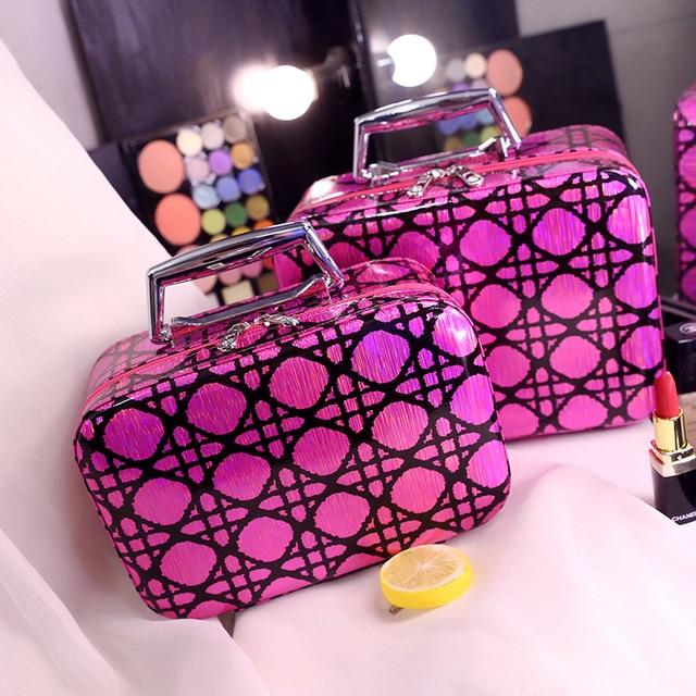 Travel Makeup Case Bag Professional Portable Multifunctional Women Makeup Bag Cosmetic Case Make Up Box Travel Toiletry Case Bag
