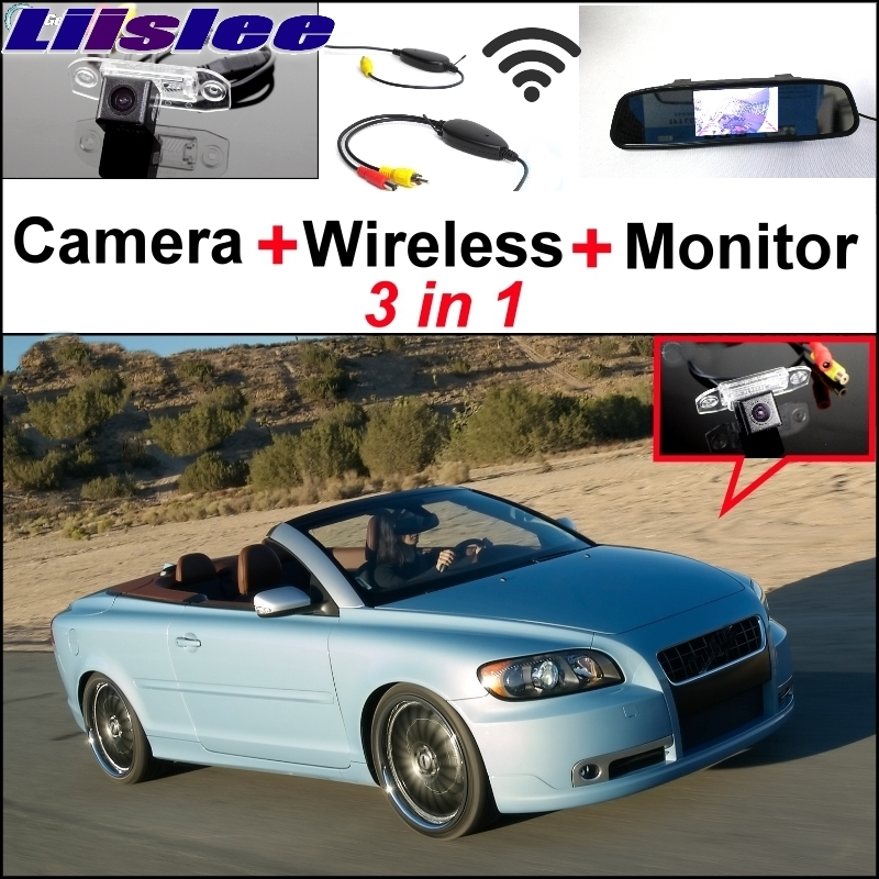 Liislee Wireless Receiver + Mirror Monitor Easy DIY Back Up Parking System For Volvo C70 + 3 in1 Special Rear View Wifi Camera liislee 3 in1 rear view special camera mirror monitor easy back up parking system for nissan nv200 evalia wireless receiver