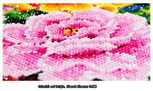Image 4 - QIANZEHUI, FAI DA TE Diamante Ricamo, Diamante Rotondo Verde Pavone portico Pieno di strass 5D Diamante pittura a punto croce, ricamo