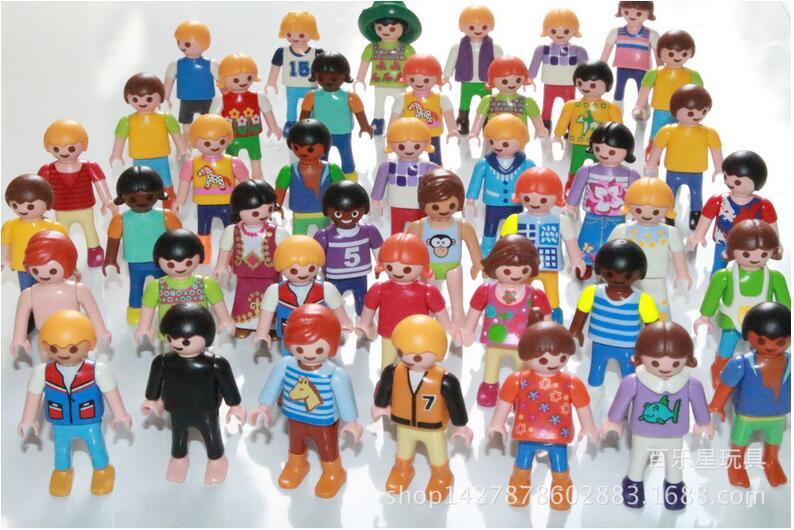 10Pcs Playmobil Germany Original <font><b>Action</b></font> <font><b>Figures</b></font> Western Farm <font><b>Fun</b></font> Park 2016 Playmob Game Child Toy Models Collections Kids L499
