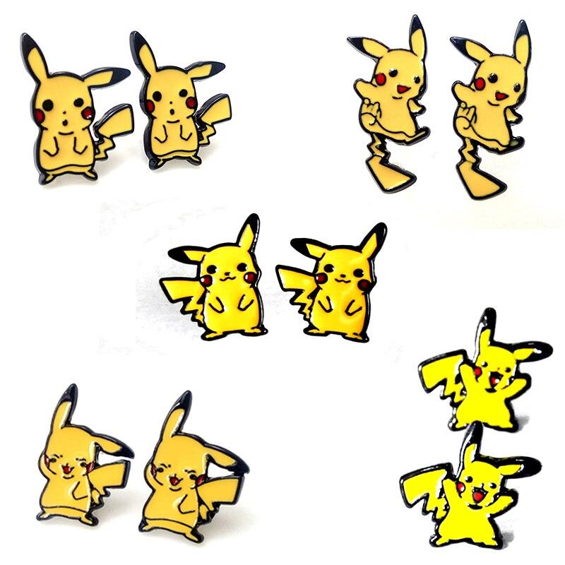 2 48 10 De Réduction 1 Paire Harajuku Alliage émail Dessin Animé Jaune Pikachu Pokemon Super Monstre Aller Pokeball Piercing Oreille Goujons