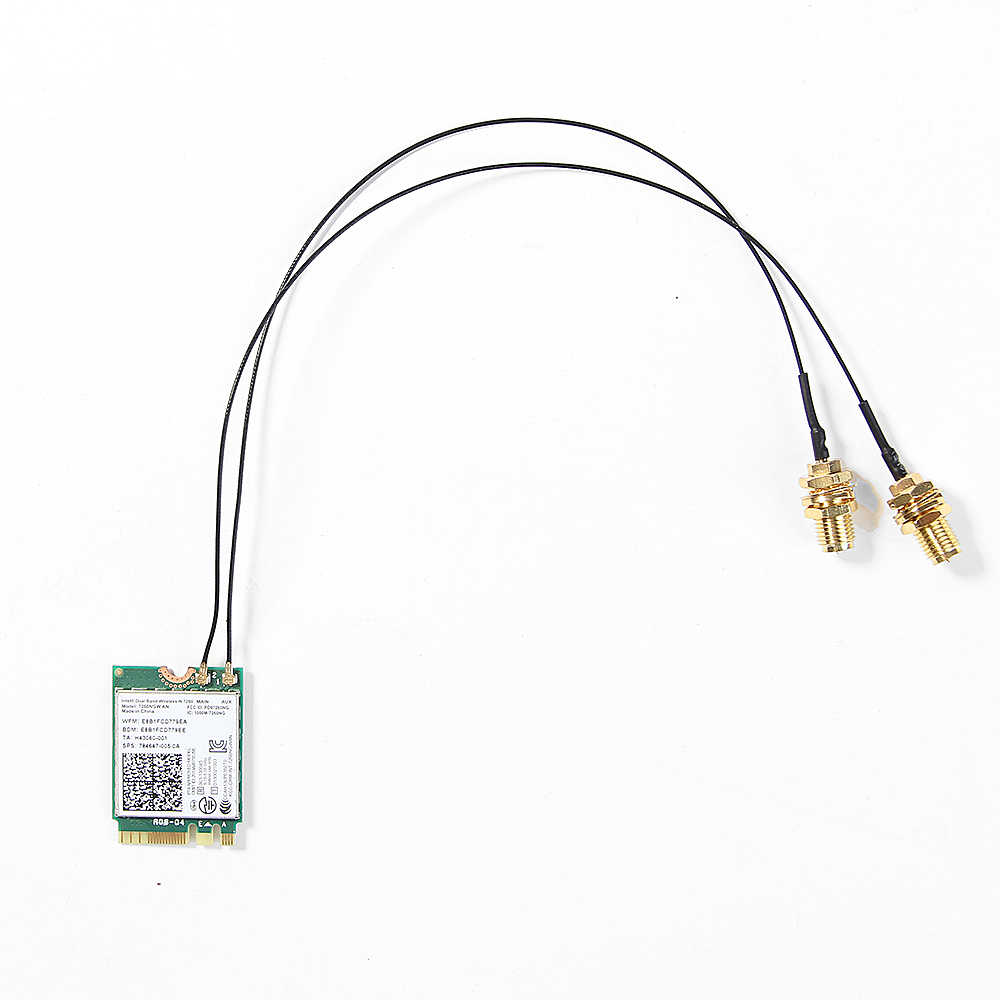 2 piezas U FL IPEX MHF4 a RP-SMA 0,81mm RF Cable Pigtail antena para NGFF/M.2 7260NGW 8260NGW 8265NGW WiFi inalámbrico router