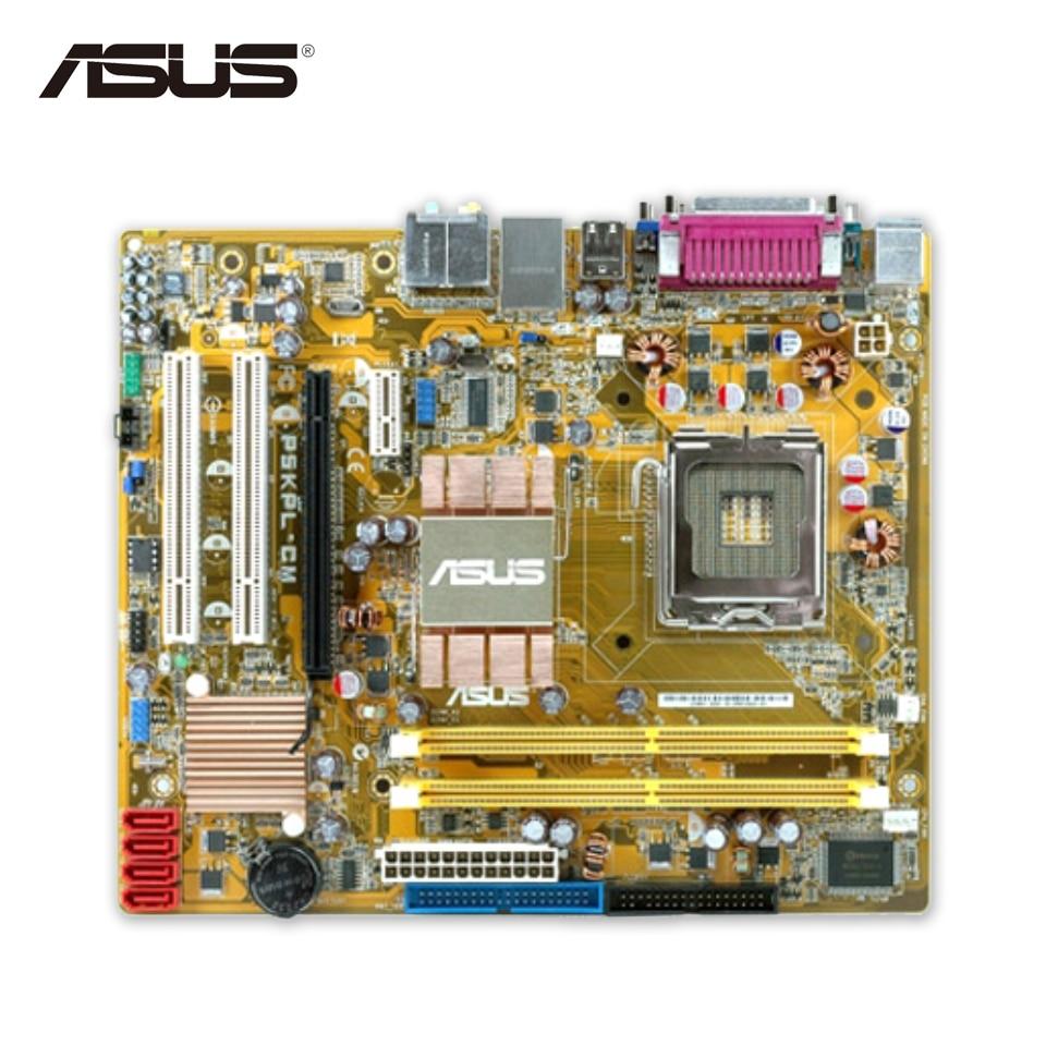 Asus P5KPL-CM Original Used Desktop Motherboard G31 Socket LGA 775 DDR2 4G SATA2 USB2.0 Micro ATX original used asus p5kpl desktop motherboard g31 socket lga 775 ddr2 sata2 atx 100% fully test