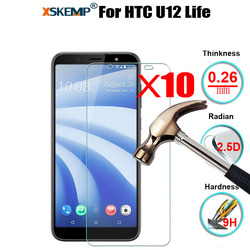10 sztuk hurtownie 9 H twardość Ultra jasne hartowanego ochraniacz ekranu ze szkła dla HTC U12 życie odporny na zarysowania tarcza film
