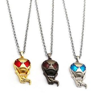 Venom Necklace Cool Skull Metal Pendants Necklaces For Men Fans Link Chain Cosplay