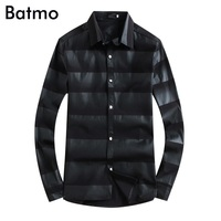 Batmo 2018 new arrival spring high quality black casual men's shirt,turn down collar casual shirt men size M to 5XL 18102