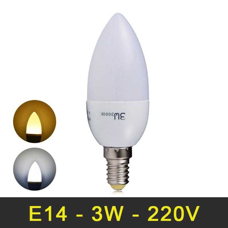 E14 Led Lamp 220V LED Candle Bulb 3W 6 LEDs SMD 2835 240V Candle Lamp LED Light Bulbs For Home Chandliers Deco