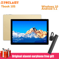 Оригинал Teclast Tbook 10 S 10,1 ''2 в 1 планшетный ПК Intel Cherry Trail X5 4 ядра Windows 10 + Android 5,1 4 GB + 64 GB Планшеты HDMI