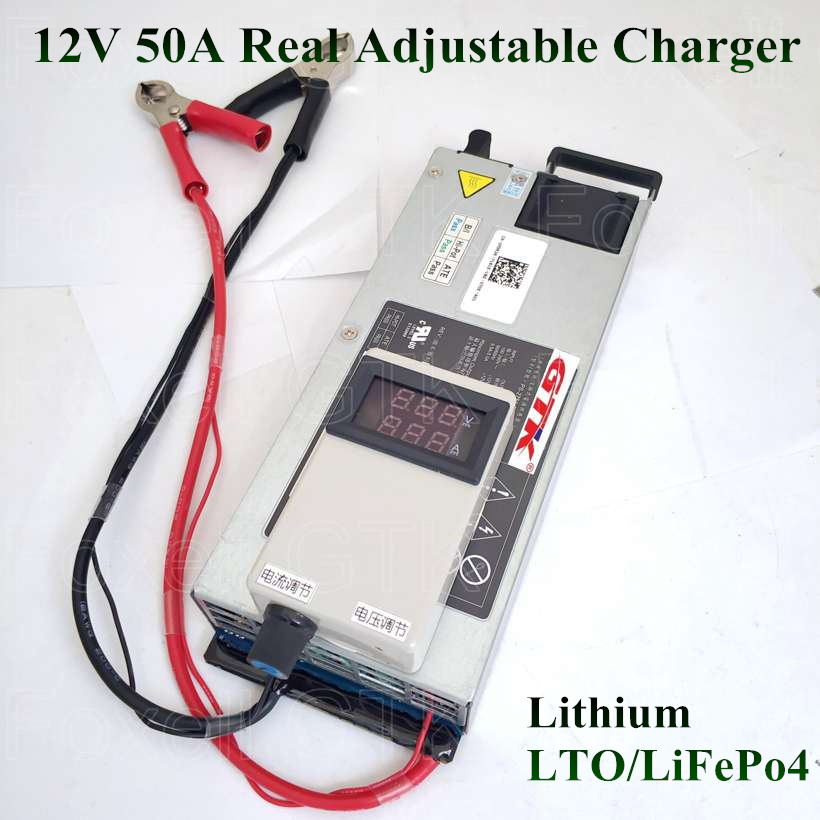 Chargers Hearty Adjustable 12v 50a Fast Speed Charger Quick 12.6v 14v 14.6v For Lto Lithium Titanate Battery Lifepo4 Polymer Charger Power 750w