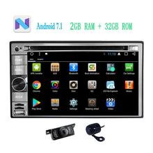 Front&Backup Camera+Android 7.1 Car Stereo Navigator in Dash Car Radio DVD CD Player Navigation Bluetooth WiFi GPS 2din Vehicles