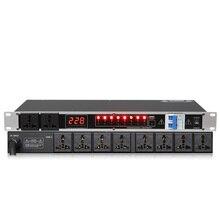 Профессиональный Сценический 8/10 способ питания секвенсор разъем управления заказом контроллер воздушный переключатель SR-820