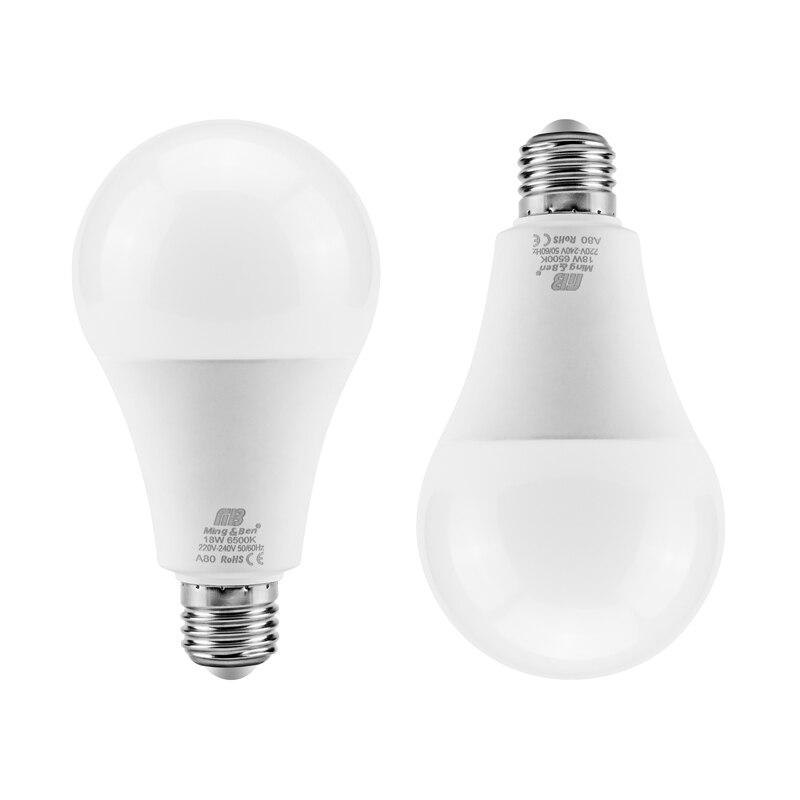 Ampoule lampe à LED puissance réelle jour blanc 9W 12W 15W 18W E27 LED Ampoule 220V 240V blanc chaud froid SMD2835 lumière LED LED Ampoule Bombillas