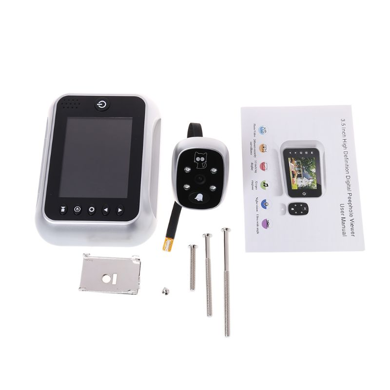 Electronic Door Bell With 3 5 LCD Display Viewer IR Night Door Peephole Camera Record