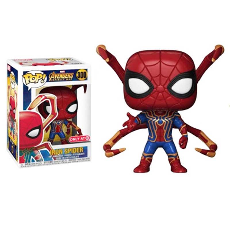 Funko pop Marvel Мстители Бесконечная война Железный Паук фигурка Человек-паук Коллекция Модель игрушки для детей Рождественский подарок