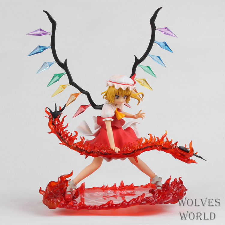 Huong Anime Figure 25 CM GRIFFON Touhou Project Flandre Scarlet Scarlet Sword Ver. PVC Action Figure Toy Model Collectibles huong anime figure 30 cm naruto shippuden hatake kakashi pvc action figure toy collectibles model doll