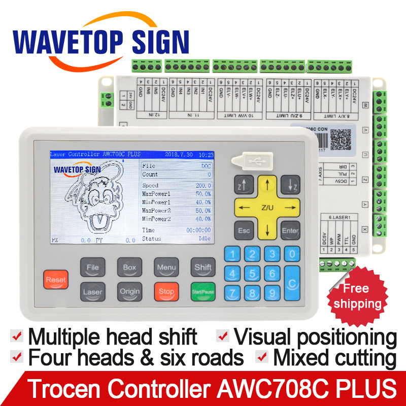 Trocen Anywells AWC708C PLUS AWC 708C Co2 Laser Controller System for Cutter Engraver and Laser Engraving & Cutting Machine