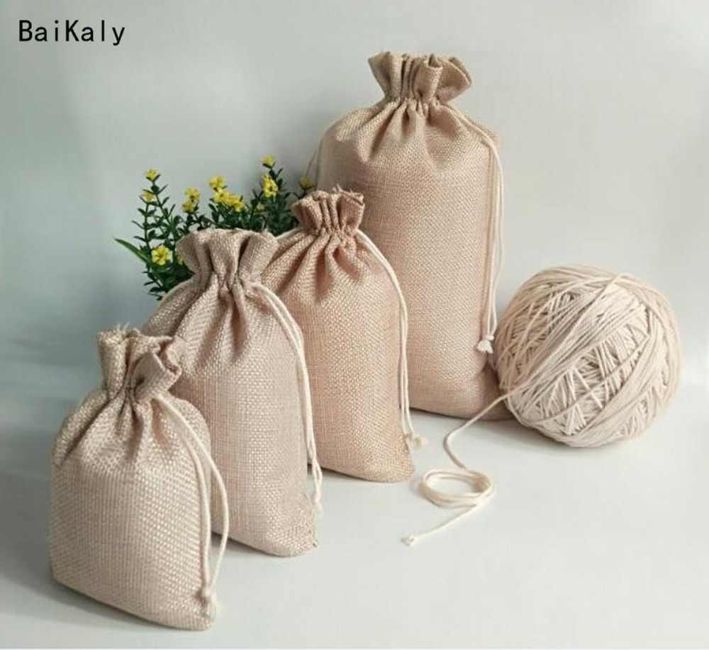 Burlap Bag with Handle  Favor Bags Gift Bag  DIY Party