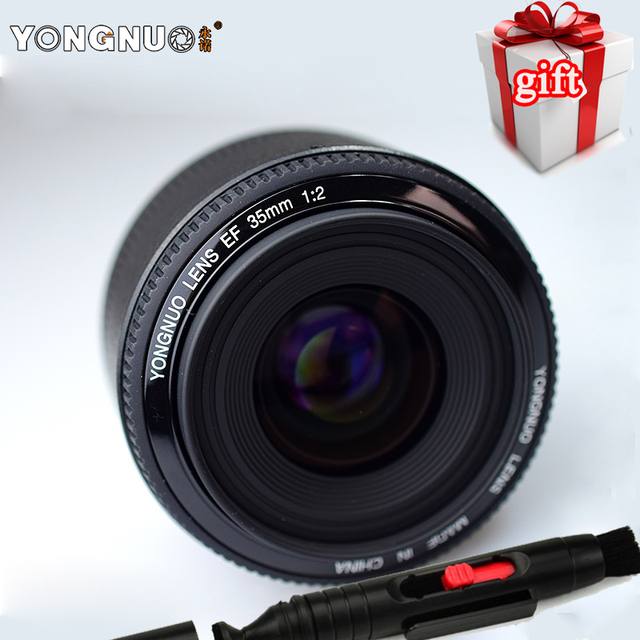 New YONGNUO 35mm Lens YN35mm F2 Lens 1:2 AF / MF Wide-Angle Fixed/Prime Auto Focus Lens For Canon EF Mount EOS Camera