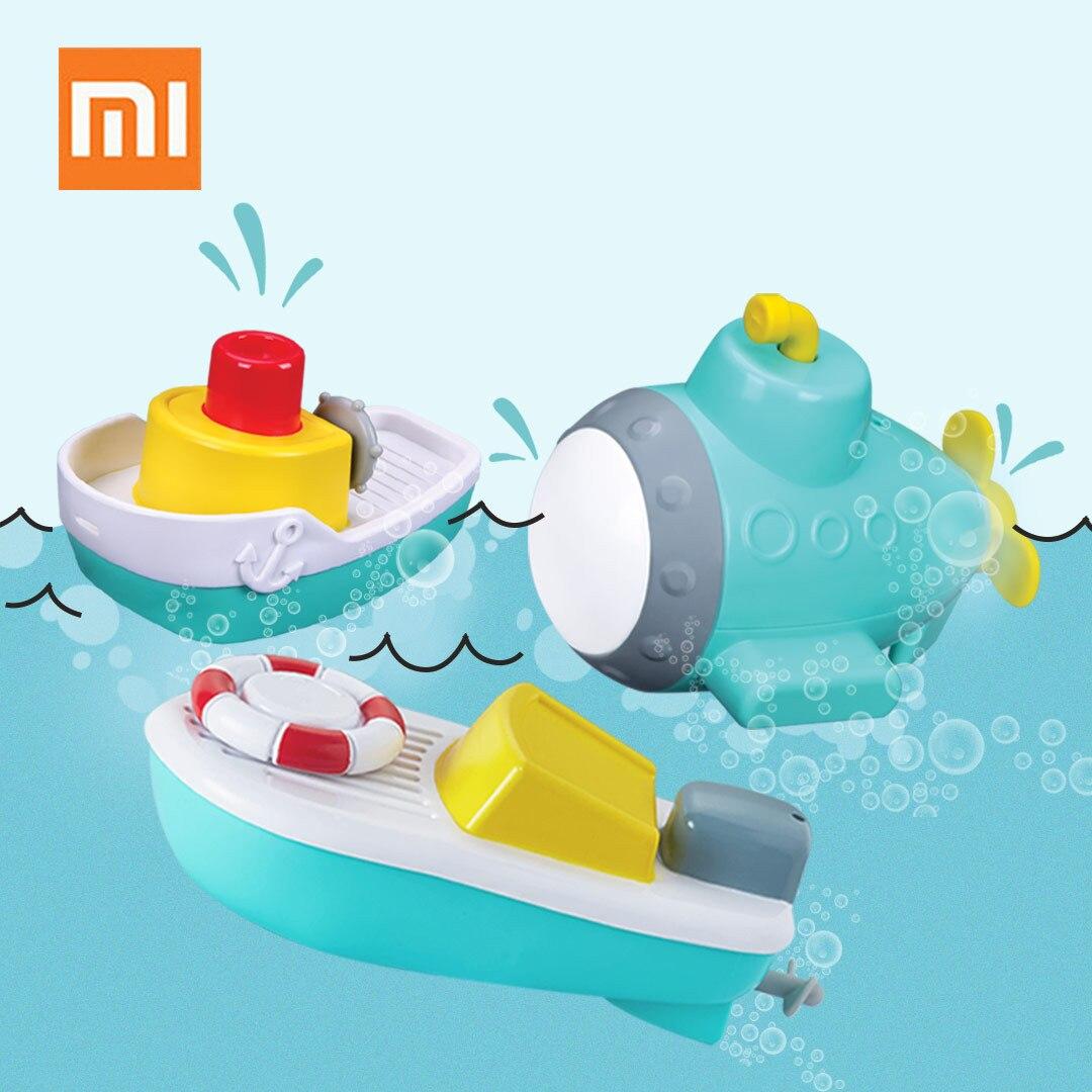 Xiaomi 3 pièces électrique étanche jouet bateau douche baignade natation été BabyToys Marine cadeau d'anniversaire pour les enfants de 1-3 ans