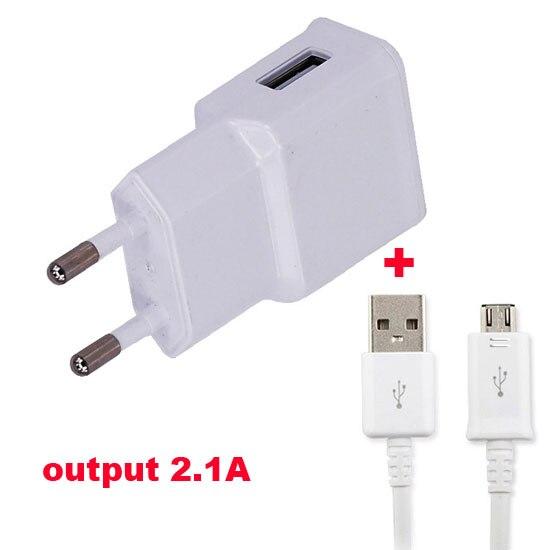 2.1A ЕС PLug Адаптер Мобильный Телефон Зарядное устройство + USB Кабель Для Lenovo Lemon 3, Lenovo A7000 <font><b>Turbo</b></font>