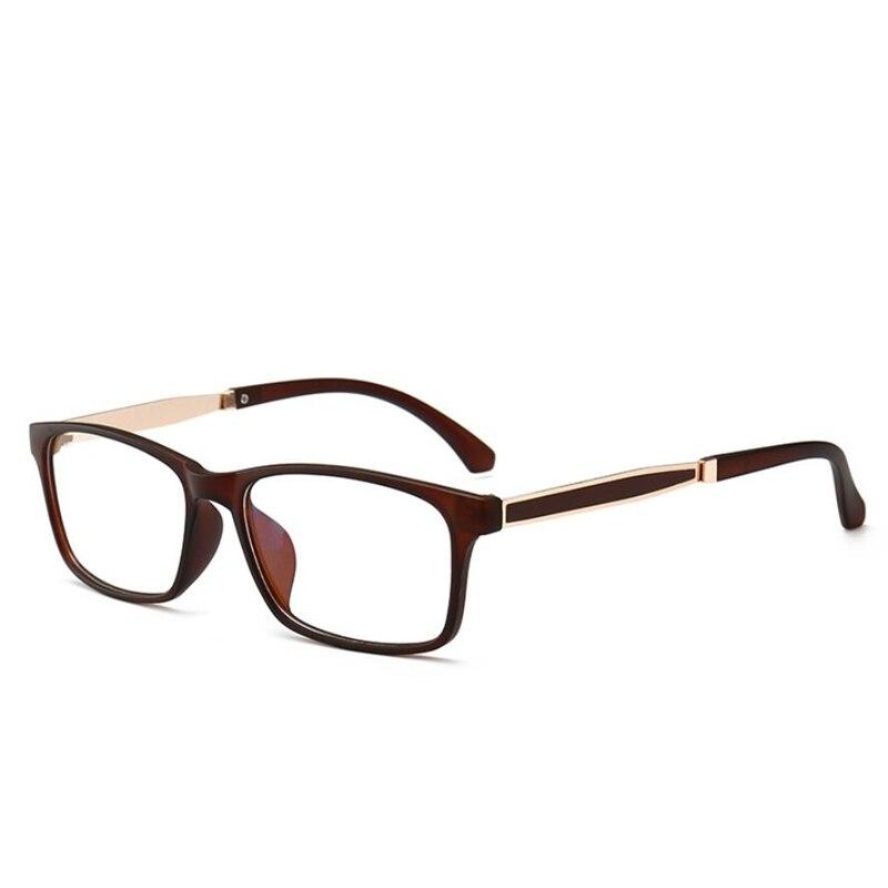 Anti Blue Light Optical Glasses Frame 2018 Retro Metal Square Sand Black And Wine Red Frame Eye Glasses For Unisex