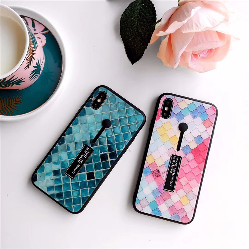 Phone Case coque For iPhone XS XR XS Max X 8 7 6 6S Plus Blue