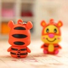 100pcs/lot cartoon cute tiger pendrive usb2.0 flash drive 32gb16gb 8gb 4gb usb memory stick pen drive usb ad gift usb