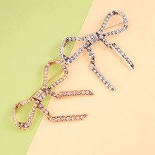Vintage Gold Color Brooch Crystal Bowknot Sweet Pins Campus Style For Women Suit Sweater New Arrival Jewelry(China)