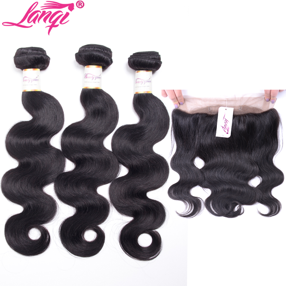 3/4 Bundles With Closure Hair Extensions & Wigs Styleicon 360 Lace Frontal With Bundle Peruvian Body Wave Non Remy Human Hair Weave 4 Bundles With Pre Plucked Frontal Closure