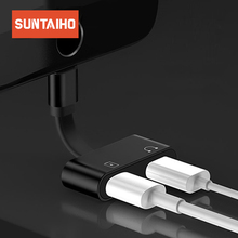 Suntaiho Audio Adapter for iPhone X Cable Charger Adapter for iPhone 7 8 Plus 2 in 1 for Lighting 8pin Charger Splitter Adapter