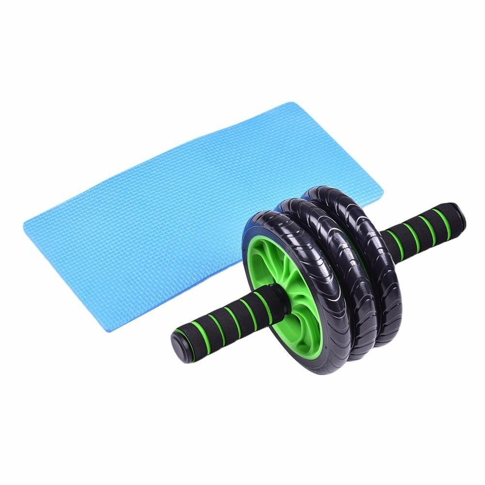 Abdominal Corssfit AB Roller Fitness AB Wheel Home Trainer Gym Equipment Three-Wheeled Black Waist Abdomen Exercise For Men