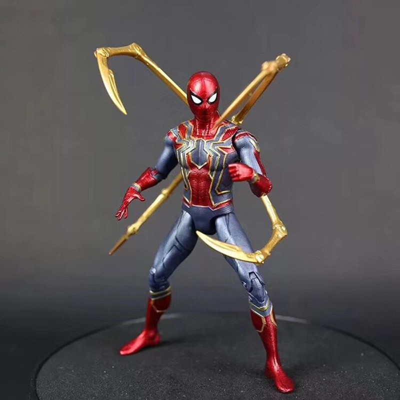 Vingadores Marvel 3 Infinito Guerra Ferro modelo spider-man Spiderman Homem Aranha Figura Collectible Modelo Toy Action Figure PVC 17 cm