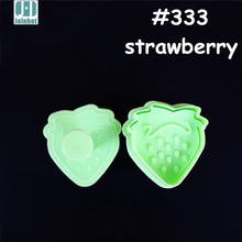 2015 Hot Strawberry Shape Plunger Cake Mold Plastic Biscuit Cookie Cutter Mold Pastry stamp Sugar Craft Cake Decorations