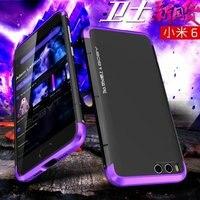 For XiaoMi Mi 6 Case Aluminum Metal Frame Polycarbonate Back Cover Case For XiaoMi Mi6 Mi