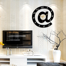 Creative living room wall Letter modeling clock send Hooks and battery Modern mute Bedroom clock decoration table