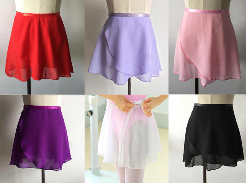 Балетная юбка для танцев; Новинка 2019 г.; летний детский однотонный шифоновый тренировочный костюм; балетное платье-пачка для девочек