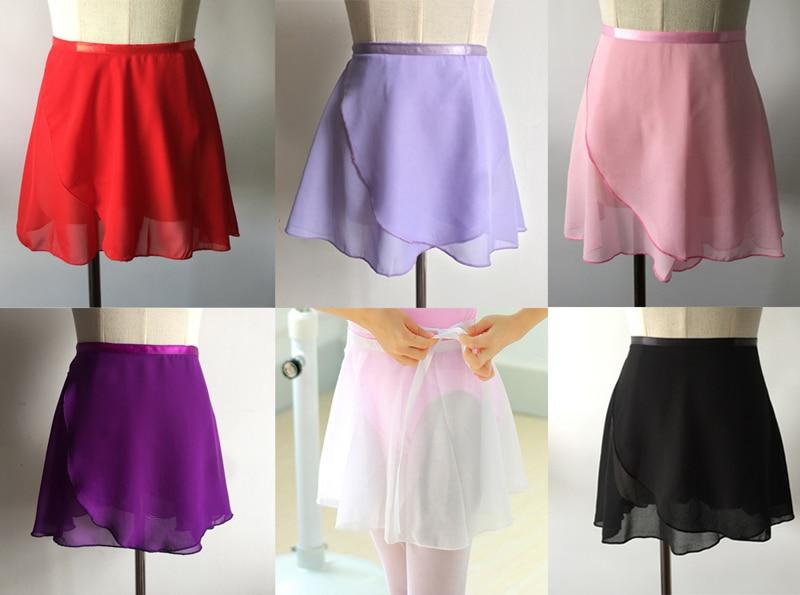 Ballet Dance Skirt 2019 New Summer Children Pure Color Chiffon Practice Costume Tutu Girl's Ballet Dancing Dress