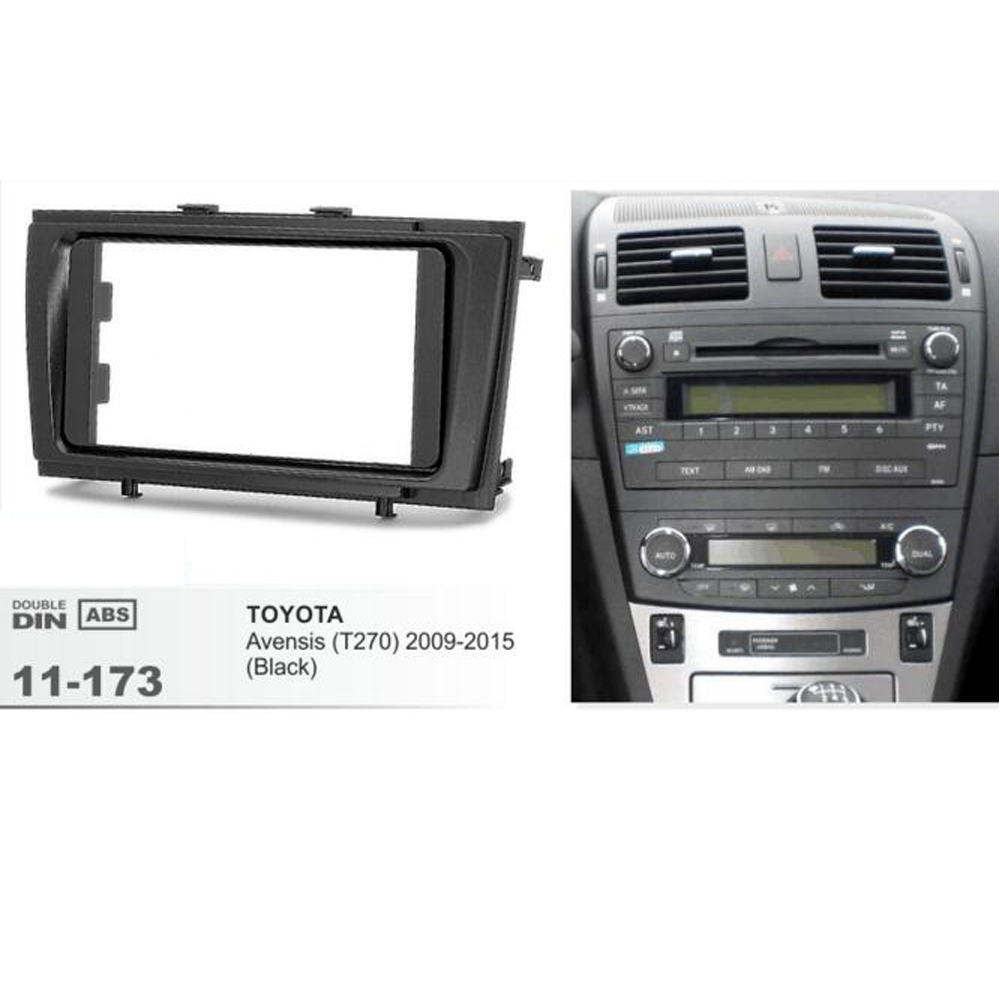 11-173 Double din Car Radio DVD CD Fascia Frame Kit installation dash mount kit stereo install for TOYOTA Avensis 2009 2010 201 2 din car radio stereo fascia panel frame dvd dash installation kit for ssang yong tivoli 2015 with 178 102mm 173 98mm