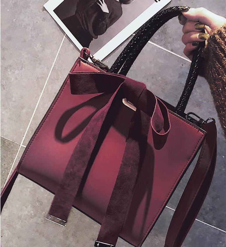 Mujer Tote Le Della Donne Bag Crossbody Delle Bolsa Black brown Sacchetti Per Borse Aimiyoung green red Spalla Feminina Signora Messenger Di Cuoio wOCTX0q