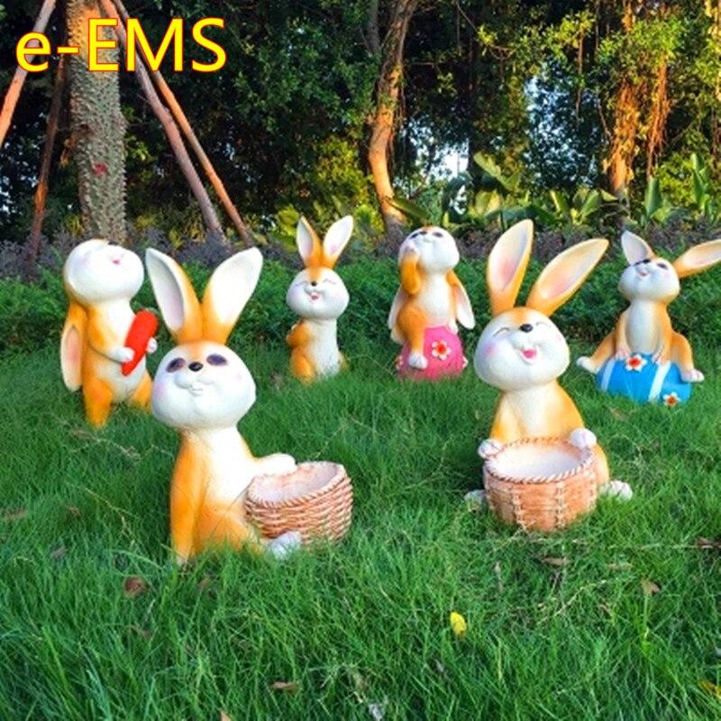 Simulation Animal Resin Cartoon Rabbit Artware Sculpture Landscape Decoration Pastorale Ornaments G2333Simulation Animal Resin Cartoon Rabbit Artware Sculpture Landscape Decoration Pastorale Ornaments G2333