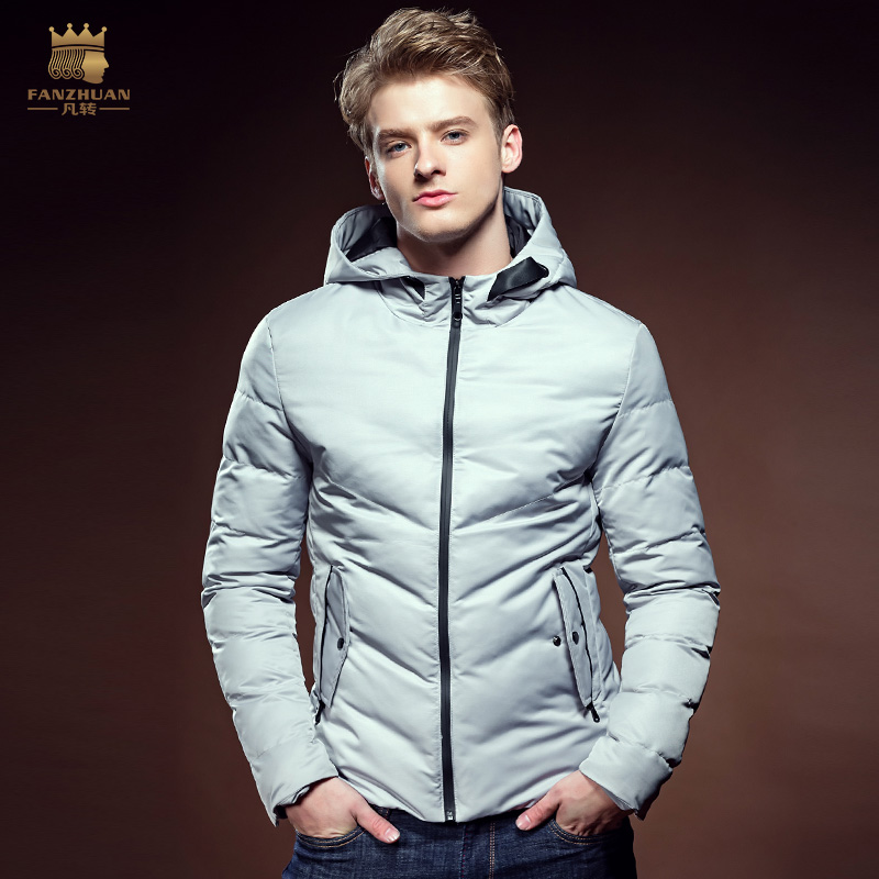 ФОТО Free Shipping New fashion fanzhuan casual male Men's winter man Cotton padded jacket thick slim Hooded coat 610111 promotion