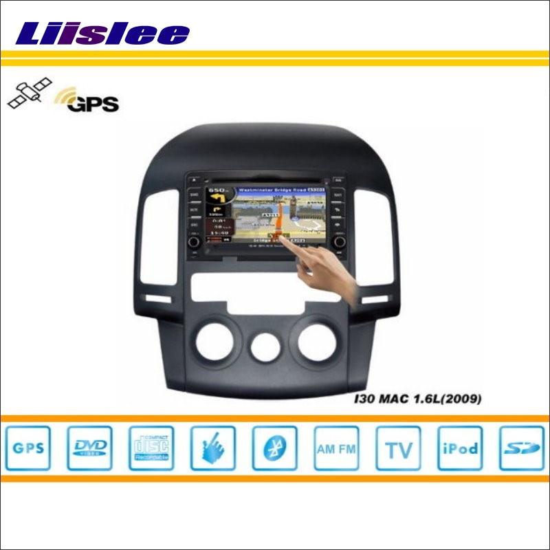 Liislee pour Hyundai i30 2007 ~ 2011 voiture S160 système multimédia Radio stéréo CD DVD TV GPS Nav Navi carte Navigation HD écran tactile
