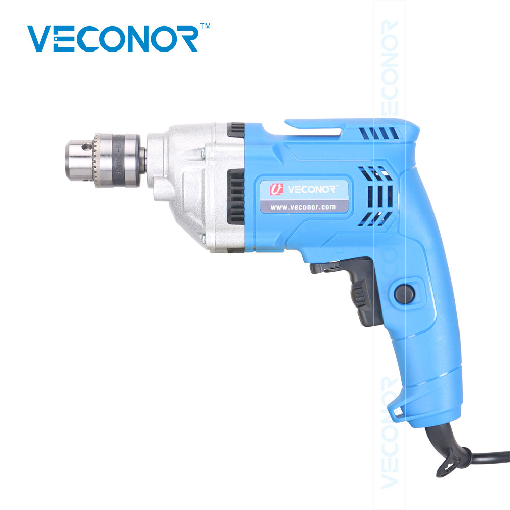 220V 550W Wired Electric Screwdriver Drill Tool 3/8 Chuck 10mm Drill Diameter Adjustable Speed Alloy Steel Head Powerful Tool flexsteel 0 8 10mm 3 8 24unf quick connect black keyless drill chuck converter tool for impact drivers
