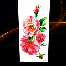 1PC HOT Waterproof 3D Temporary Tattoo H3D-01 Fake Removable Body Art Red Strawberry Cherry Grape Fruit