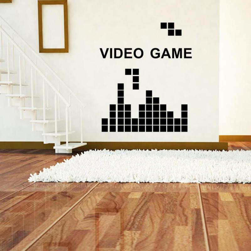 Removable Peel Wall Sticker Wall Decal Classic Video Game DIY Mural  Stickers L50(China (
