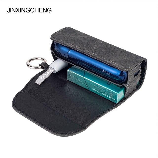 JINXINGCHENG Mode Flip Doppel Buch Abdeckung für iqos 3,0 Fall Tasche Tasche Halter Abdeckung Brieftasche Leder Fall für iqos 3 duo duos