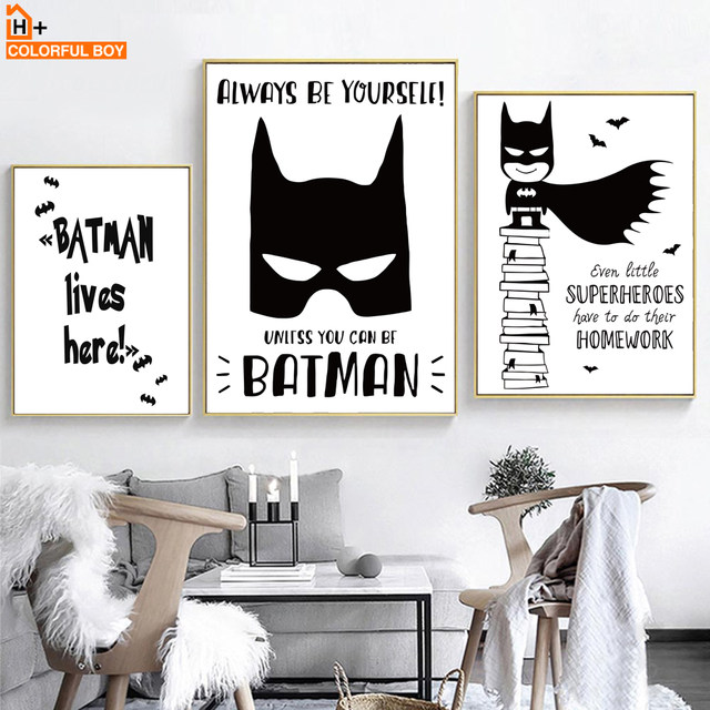 Tienda Online COLORFULBOY moderno superhéroe Batman Spiderman lienzo ...