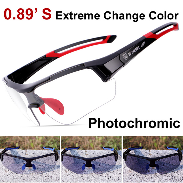 Photochromic Sunglasses Glasses 0.8'S Extreme Discoloration Aerodynamic for Biking Running MTB Road Oculos De Sol Goggles 2017