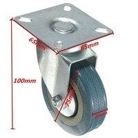 2pcs Lot 75mm Heavy Duty Trolley Furniture Rubber Swivel Castor Wheel